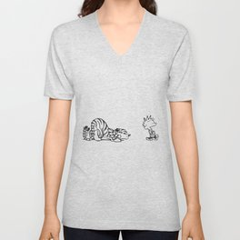 calvin and hobbes Unisex V-Neck