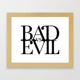 BADvsEVIL Music Framed Art Print