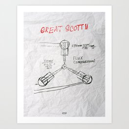 Great Scott, It's a Flux Capacitor - Back to The Future Art Print