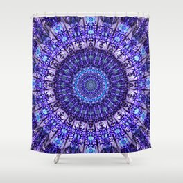 Indulgence of lavendery details in the lace mandala Shower Curtain