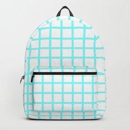 Grid (Aqua & White Pattern) Backpack