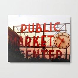 Public Market Center - Pike's Place Market Seattle, Washington USA Metal Print