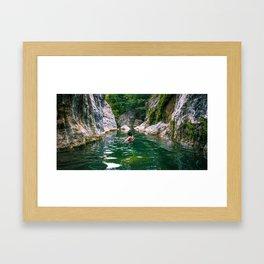 River Boy Framed Art Print