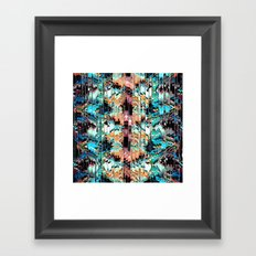 Colorful Abstract In Shreds Framed Art Print