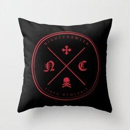 Nightcrawler Logo Throw Pillow