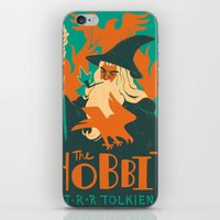 the hobbit iPhone & iPod Skins featuring The Hobbit by Greg Wright