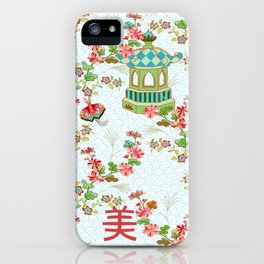 White Chinoiserie iPhone Case