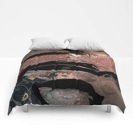 Black desert waters Comforters