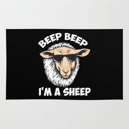 Beep Beep I'm A Sheep Rug