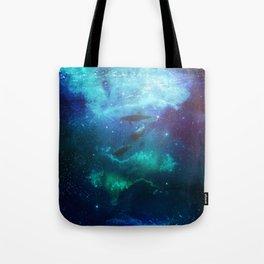 Mystic Dolphins Underwater Scenery Tote Bag