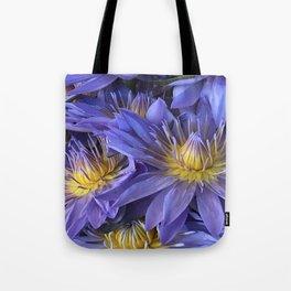 Luxurious, Elegant Tropical Lilac-Blue Hawaiian Lilies Tote Bag