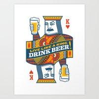 King of Beers Art Print