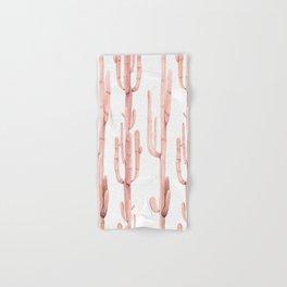 Pink Coral Cactus Climb Hand & Bath Towel