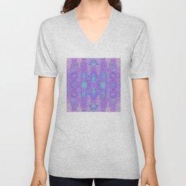 Lavender Dreams Abstract Unisex V-Neck