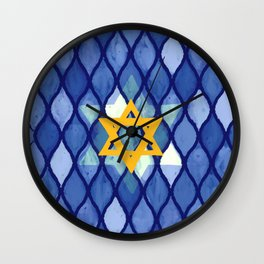 Jewish Celebration Wall Clock