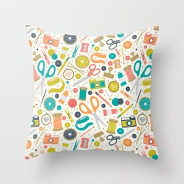 Get Crafty Throw Pillow