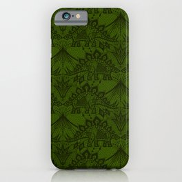 Stegosaurus Lace - Green iPhone Case