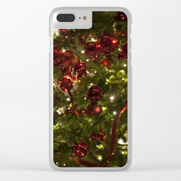 Christmas Ornaments Clear iPhone Case