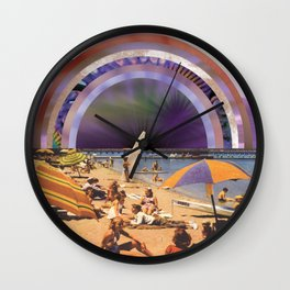 Mysterious portal at the beach Wall Clock