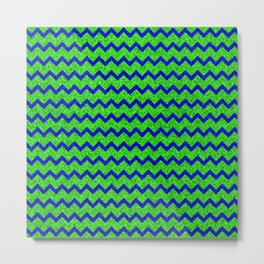 Chevron Glitter Pattern 01 Metal Print