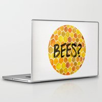 bees Laptop & iPad Skins featuring BEES? by Cat Coquillette