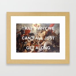 Putting Shame In Your Conversion Framed Art Print