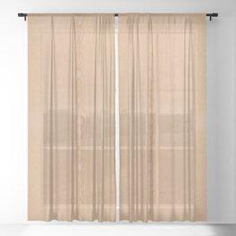 Elegant Light brown wood grain texture Sheer Curtain