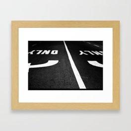 only Framed Art Print