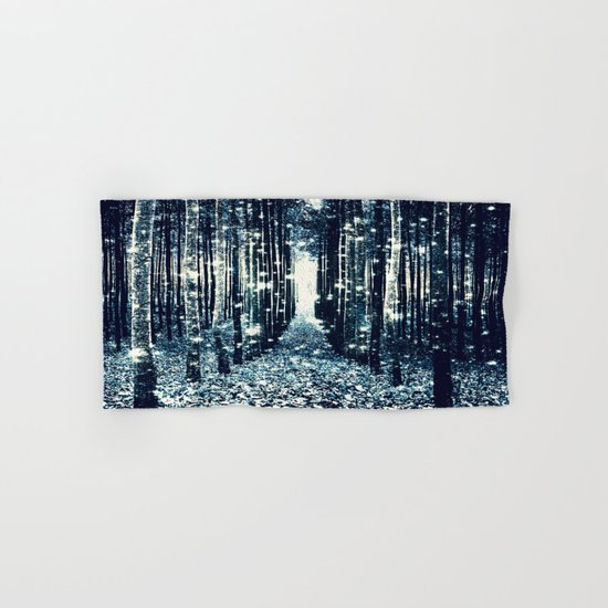 Magical Forest Teal Gray Elegance Hand & Bath Towel