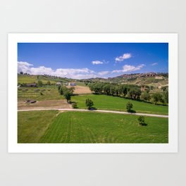 Green Fields of Abruzzo Art Print