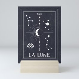 The Moon or La Lune Tarot Mini Art Print