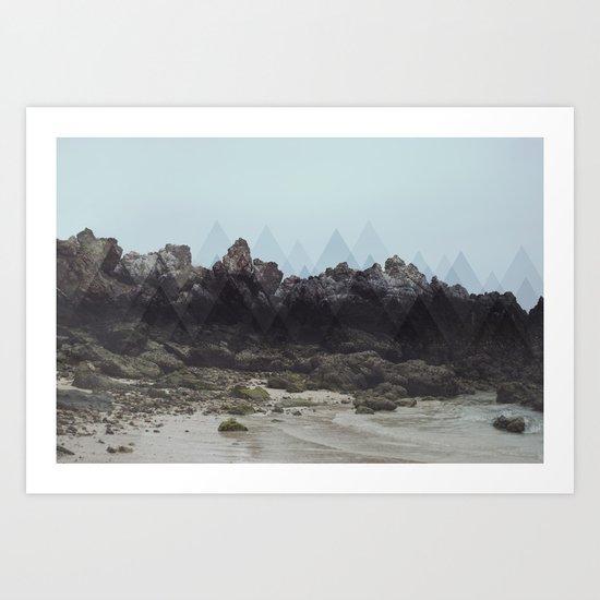 Geometric Rocks Art Print