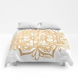 Gold Mandala Comforters