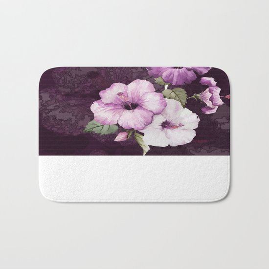 The shadow of flowers Bath Mat