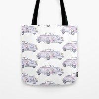 porsche Tote Bags featuring Porsche by Kara Ashley Shreeve