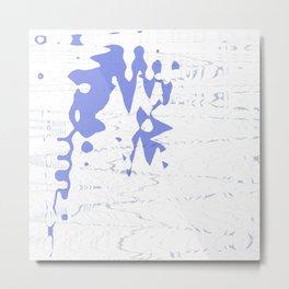 Nice blue ocean splash on wavy white background Metal Print