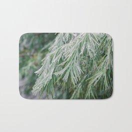 Frozen Evergreen Trees Bath Mat
