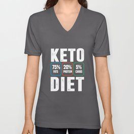 keto diet protein protein nutrition carbohydrates Unisex V-Neck