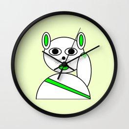 Maneki neko green version Wall Clock