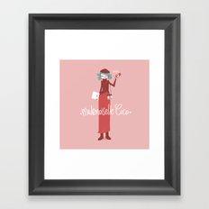 Mademoiselle Coco Framed Art Print