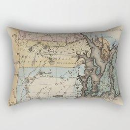 Vintage Map of Rhode Island (1823) Rectangular Pillow