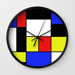 Mondrian #20 Wall Clock