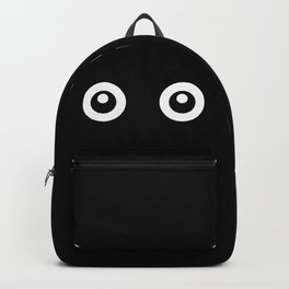 Scared Cartoon Eyes in the Dark Backpack