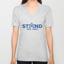 I Stand With Israel - Star Of David Jewish Support Unisex V-Neck