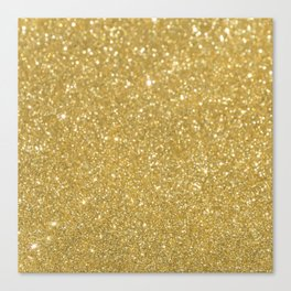 GOLD GLITTER Canvas Print