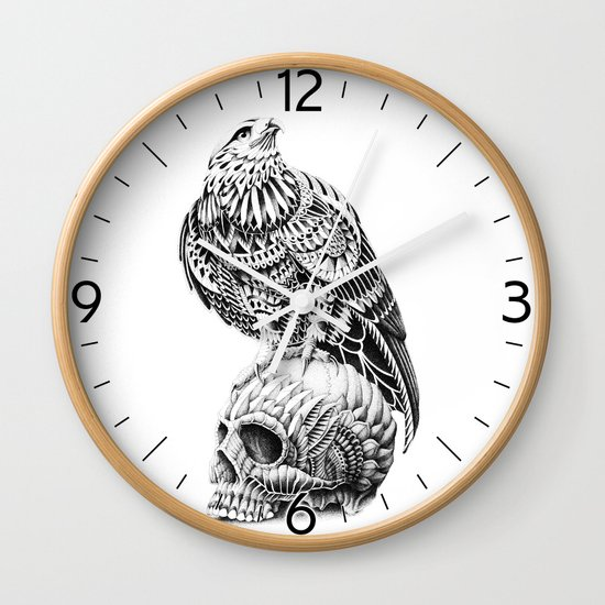 Red-Tail Skull Wall Clock
