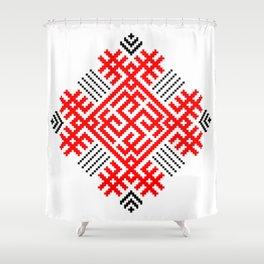 Rodimich - Antlers - Slavic Symbol #1 Shower Curtain