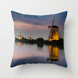 Dutch Wind Mills Throw Pillow