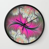 caleb troy Wall Clocks featuring Melon Of Troy by RubyJean