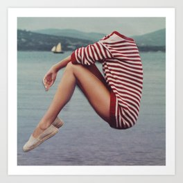A Warm Sweater on the Harbor Art Print